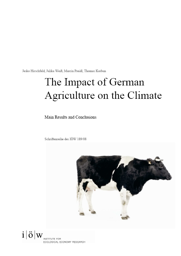 The Impact of German Agriculture on the Climate