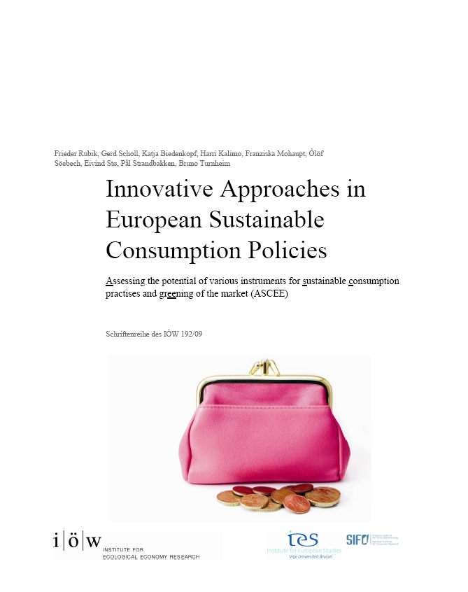 Innovative Approaches in European Sustainable Consumption Policies