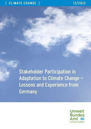 Stakeholder Participation in Adaptation to Climate Change