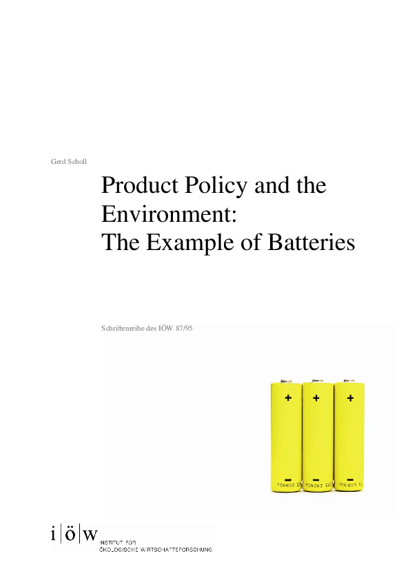 Product Policy and the Environment: The Example of Batteries