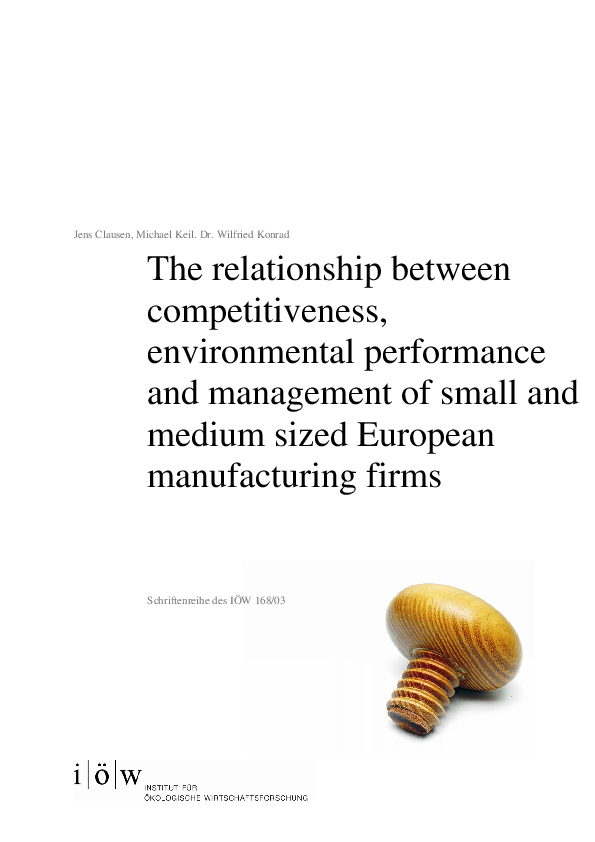 The relationship between competitiveness, environmental performance and management of small and medium sized firms