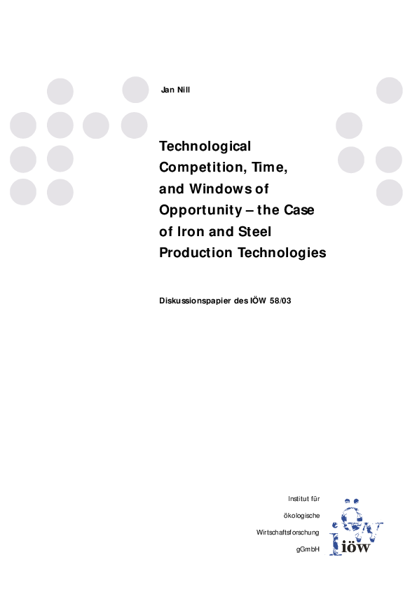 Technological Competition, Time, and Windows of Opportunity
