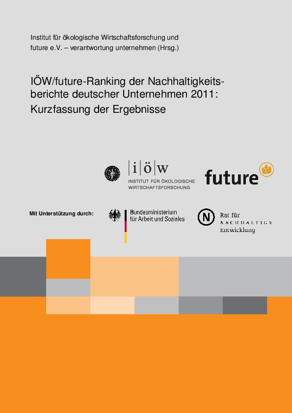 IÖW/future-Ranking of Sustainability Reports of German Companies 2011