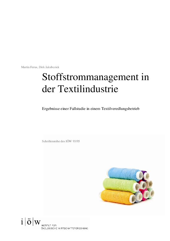 Stoffstrommanagement in der Textilindustrie
