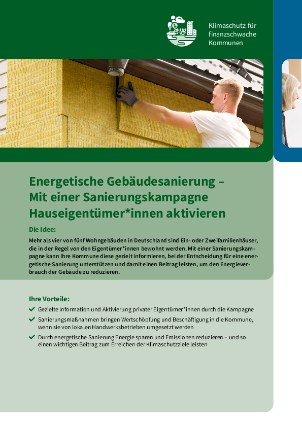Energetic building refurbishment – Activating homeowners with a refurbishment campaign