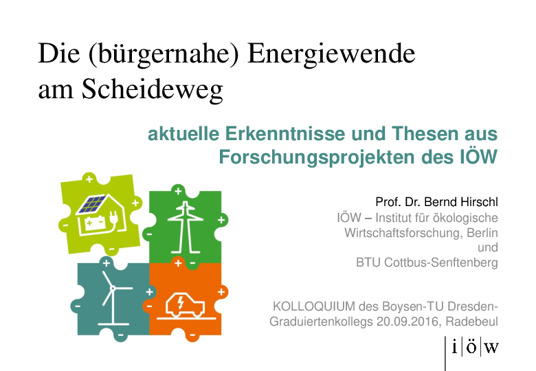 Citizen-Oriented Energiewende at the Crossroads