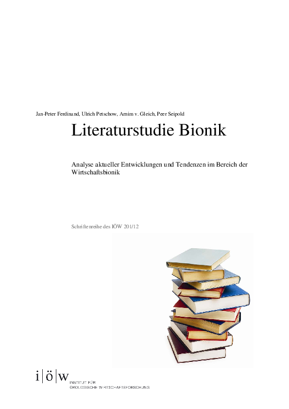Literature Study Biomimetics and Economics/ Management