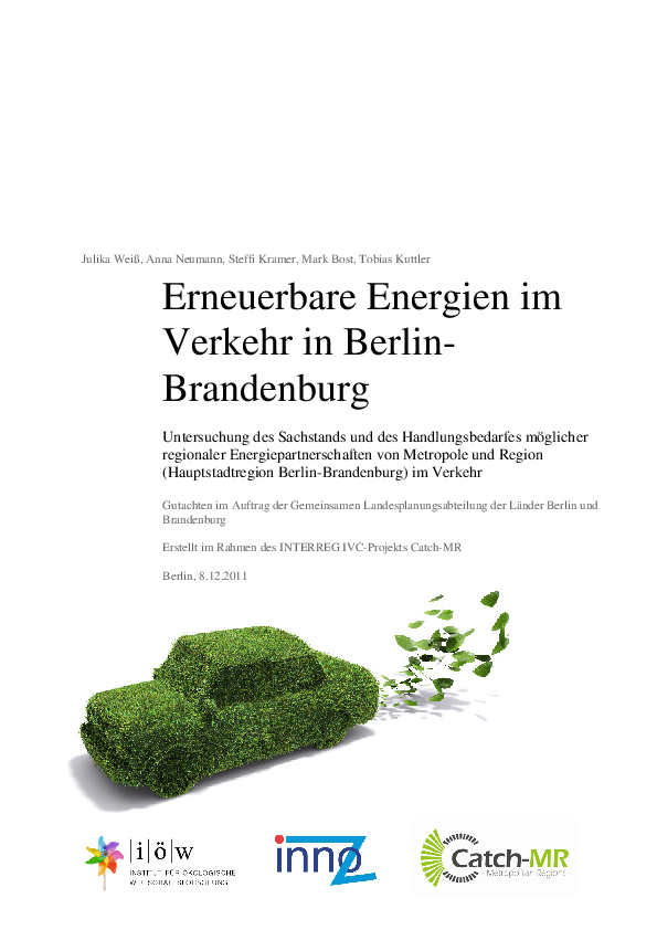 Renewable energy in transport in Berlin-Brandenburg