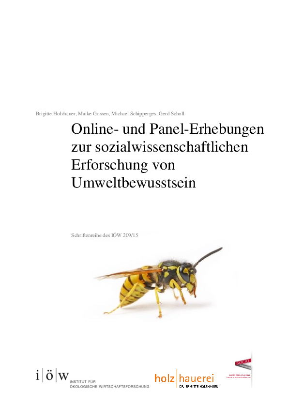 Online and Panel-Surveys to Evaluate Environemtnal Consciousness in Social Sciences