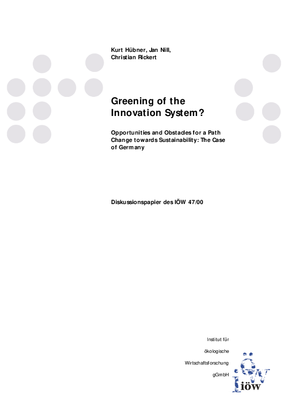 Greening of the Innovation System?