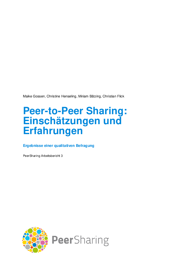Peer-to-Peer Sharing: Practice and Perception
