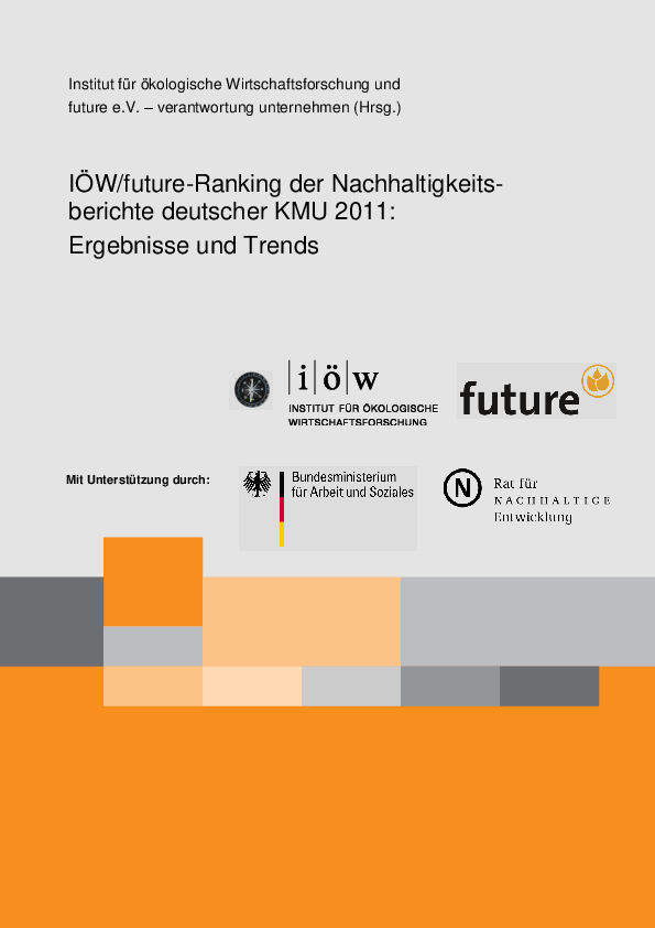 IÖW/future-Ranking of Sustainability Reports of German SMEs 2011