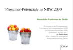 Prosumer potentials in North Rhine-Westphalia 2030