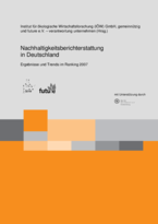 Sustainability reporting in Germany.