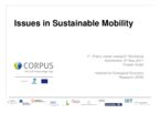 Issues in Sustainable Mobility