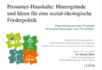 Prosumer-Households: Backgrounds and ideas for a social-ecological funding policy