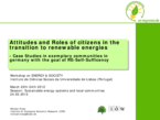 Acceptance, Demand and Participation - Attitudes and Behaviour Patterns Concerning Renewable Energies of Citizens in Communities with the Goal of Renewable Energy Self-sufficiency