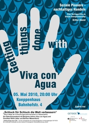 Einladungsplakat Getting things done with Viva con Agua
