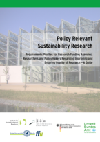 Policy-relevant Sustainability Research