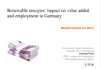 Renewable energies' impact on value added 