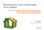 Rebound effects in non-residential public service buildings