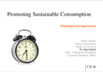Promoting Sustainable Consumption