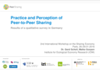 Practice and Perception of Peer-to-Peer Sharing