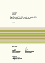 Significance of the CSR debate for sustainability and the requirements for companies