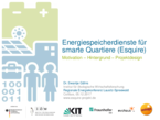 Project Esquire - Energy storage services for smart neighbourhoods