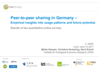 Peer-to-peer Sharing in Germany – Empirical Insights into Usage Patterns and Future Potential. Results of Two Quantitative Online Surveys
