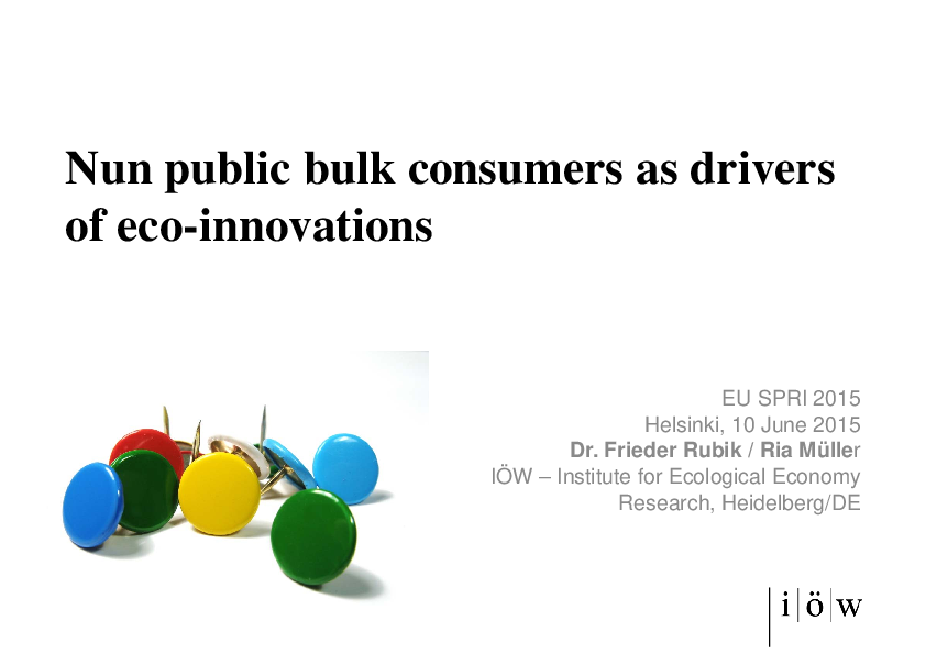 Non-public bulk consumers as drivers of eco-innovations