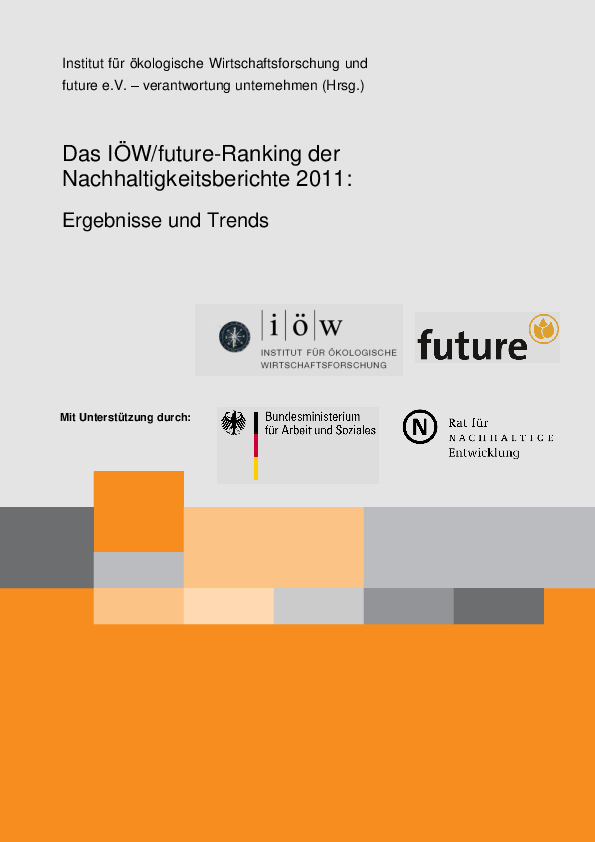 IÖW/future-Ranking of Sustainability Reports 2011