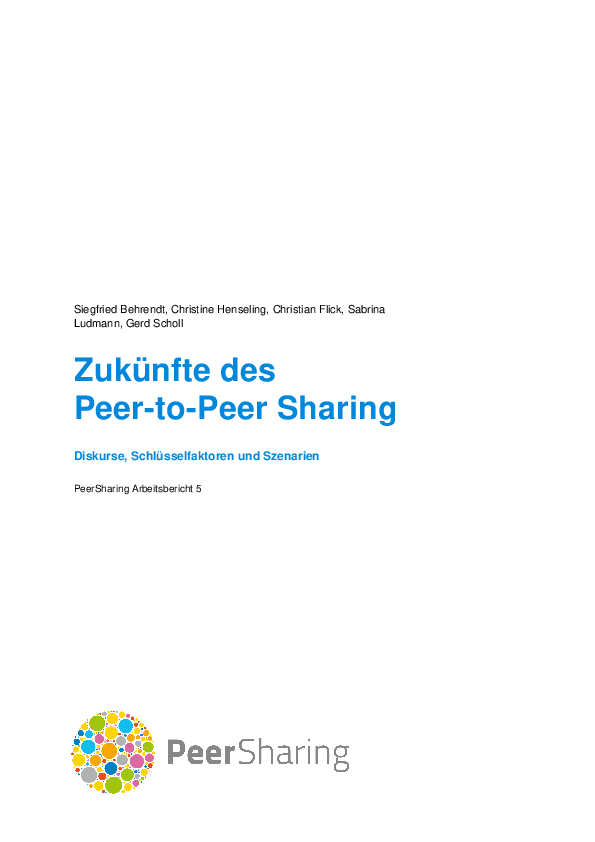Futures of the peer-to-peer sharing concept