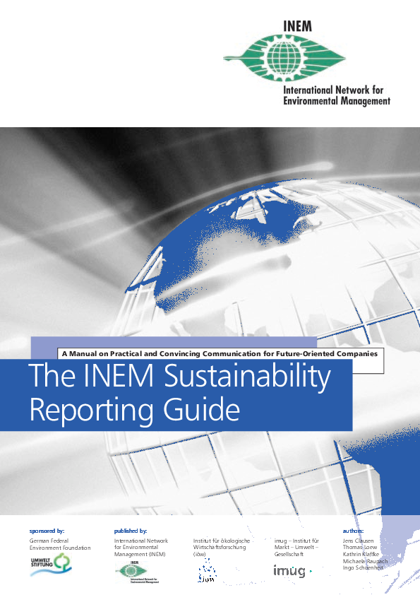 The INEM Sustainability Reporting Guide