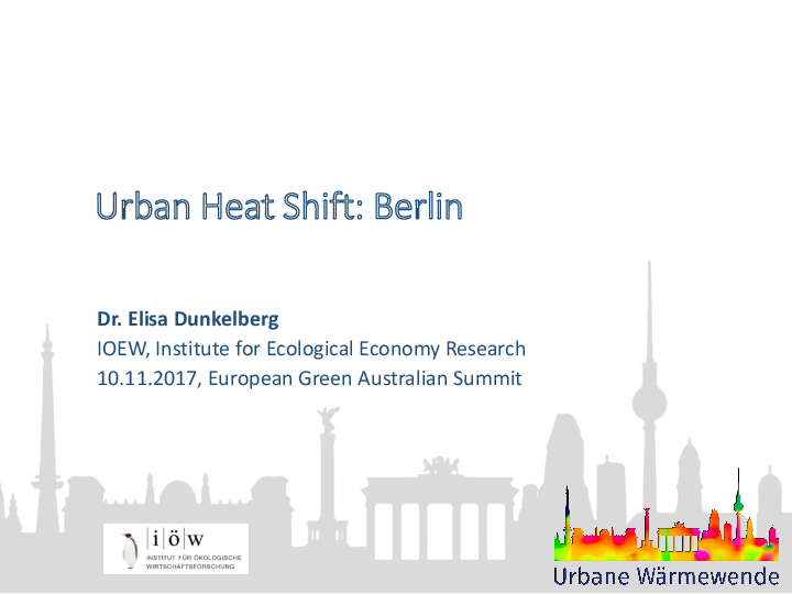 Urban Heat Shift: Berlin