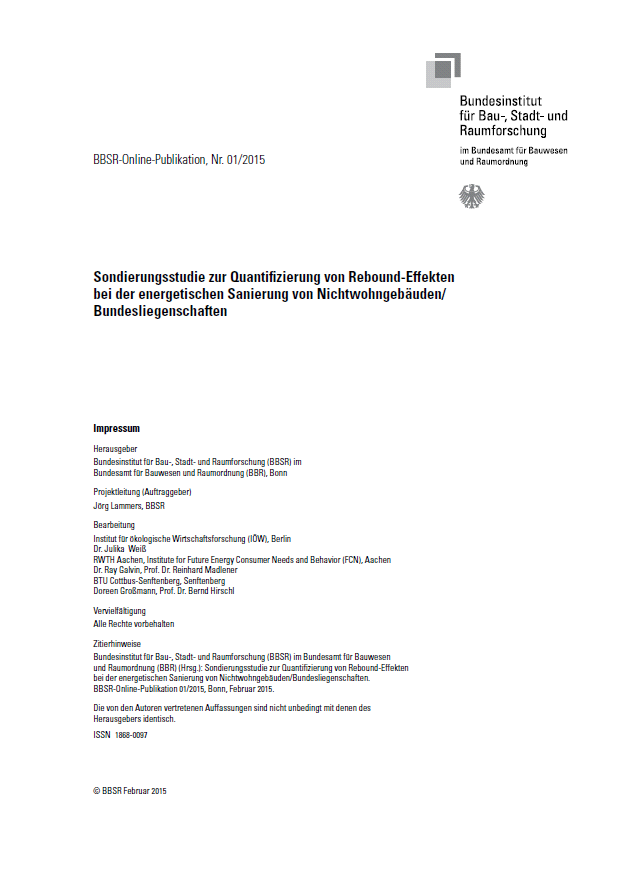 Thermal Retrofits: Estimating Rebound Effects in Non-Residential Public Service Buildings