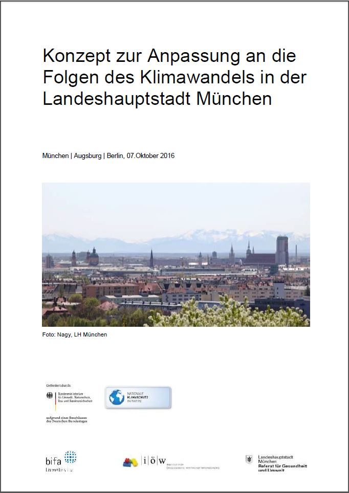 Concept for the Adaptation to the Consequences of Climate Change in the Federal State Capital of Munich