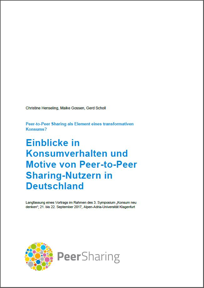 Insights into consumption behavior and motives of peer-to-peer sharing users in Germany.