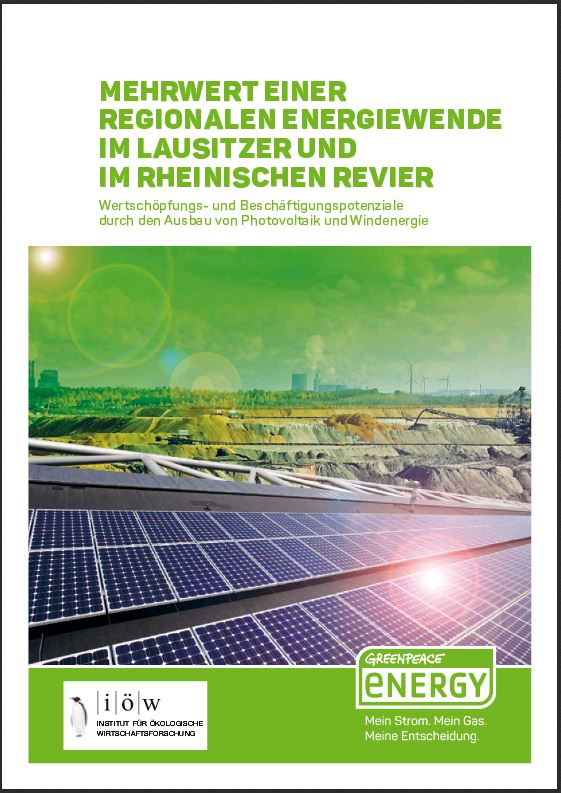 Added Value of a Regional Energy Transition in the Lusatian and Rhenish Lignite Mining Regions