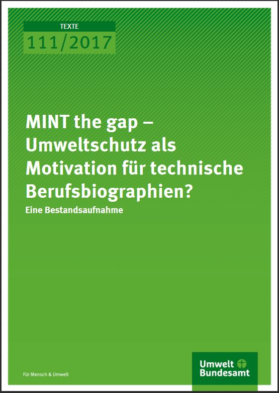 MINT the Gap – Protecting the Environment as Motivaton for Technical Careers?