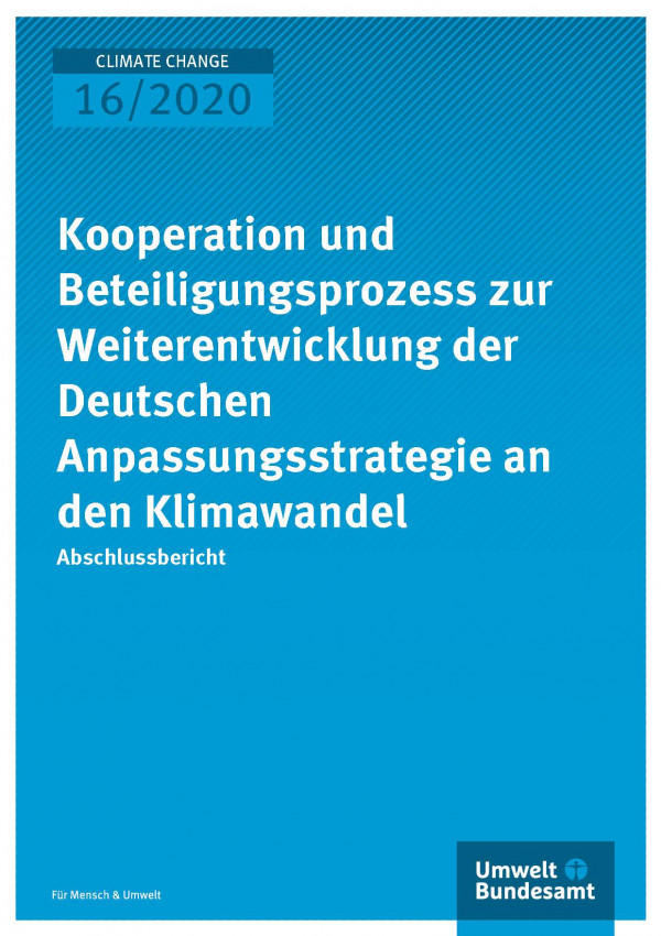 Cooperation and participation process for the further development of the German Adaptation Strategy to Climate Change