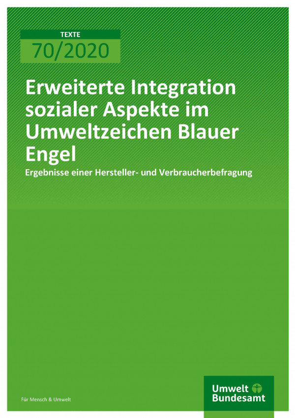 Extended integration of social aspects in the eco-label Blue Angel