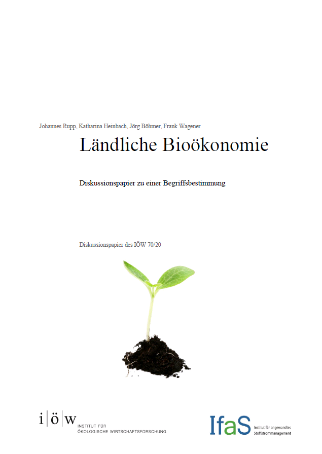 Discussion paper to define the concept of a rural bio-economy