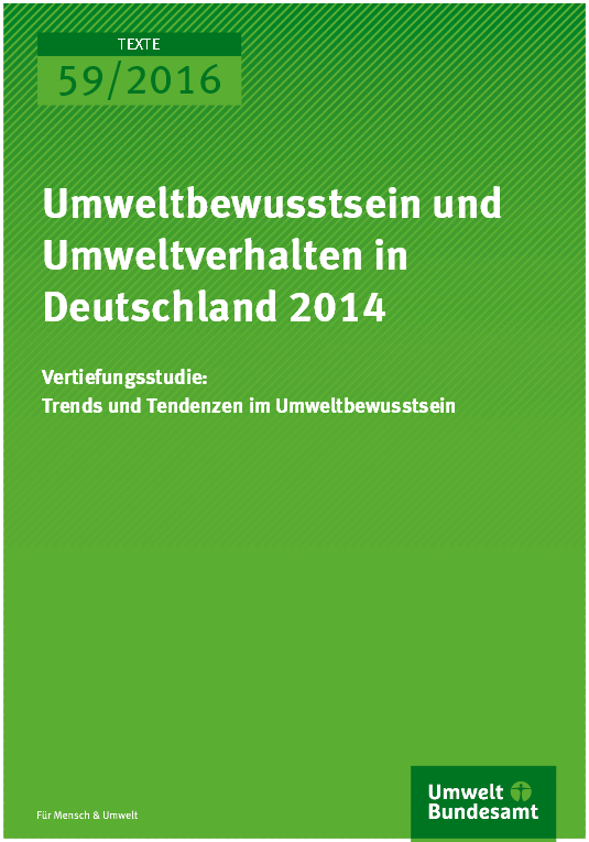 Environmental Consciousness and Behaviour in Germany 2014